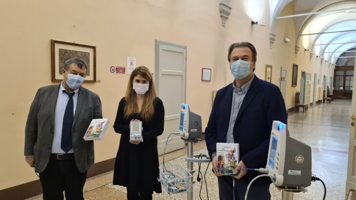 Fiabe del tempo sospeso, consegnate le attrezzature all'Ospedale di Imola