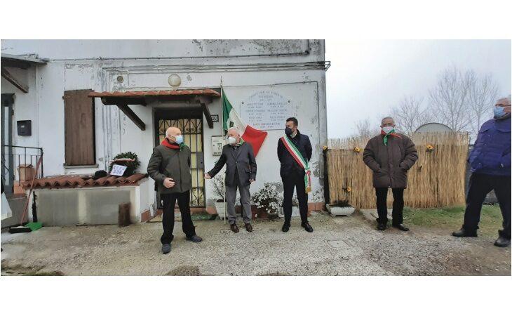 Cerimonia dell'Anpi a Osteriola in ricordo dei partigiani caduti