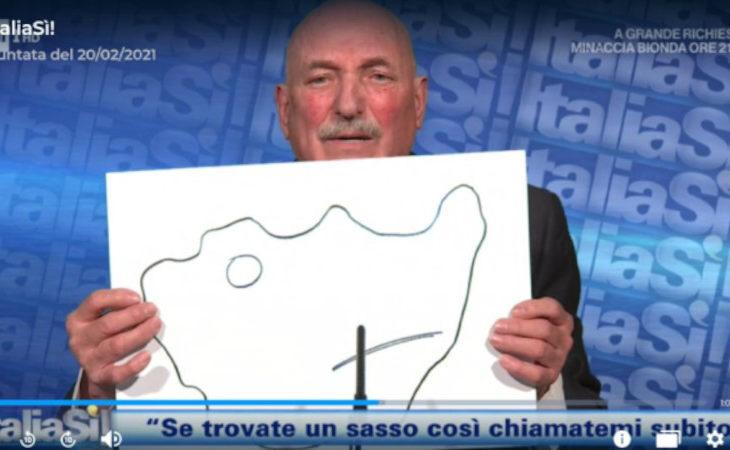 L'imolese Emilio Padovani ospite della trasmissione «ItaliaSì!», condotta da Marco Liorni