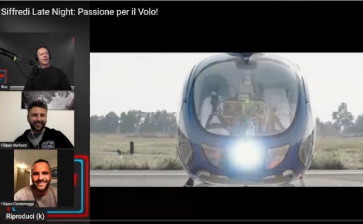 Rocco Siffredi «testimonial» di Zefhir, invitato a Ozzano a provare l'elicottero Curti