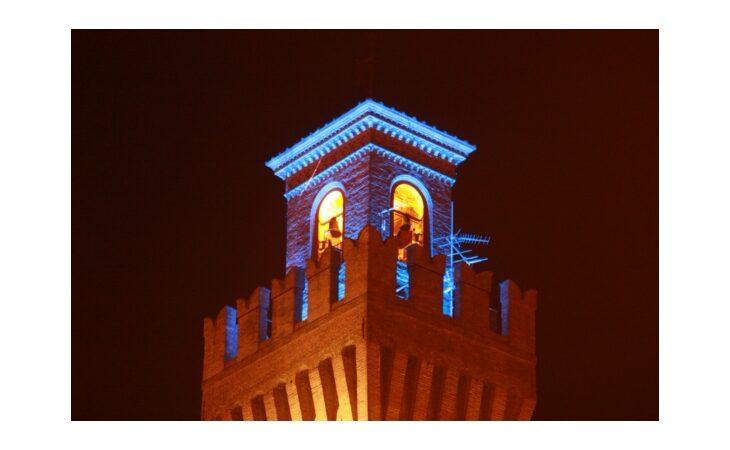 La torre del Cassero di Castello si colora di blu per la Giornata mondiale sull'autismo