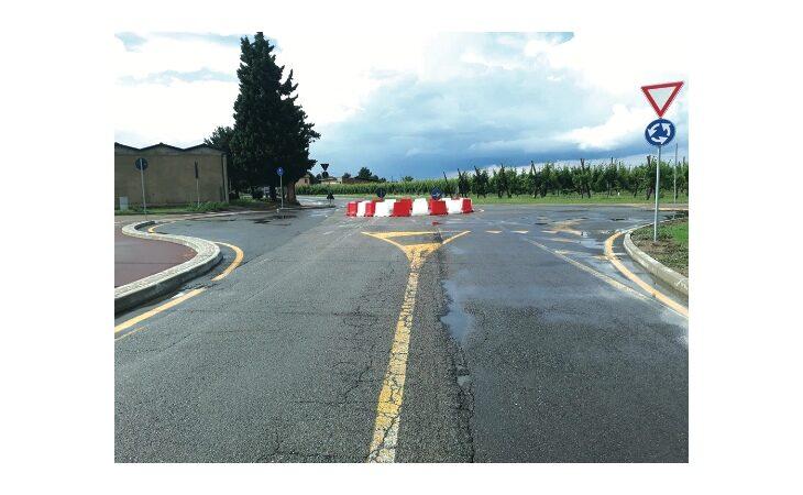 A Mordano via San Francesco più sicura con la nuova rotonda dal cimitero