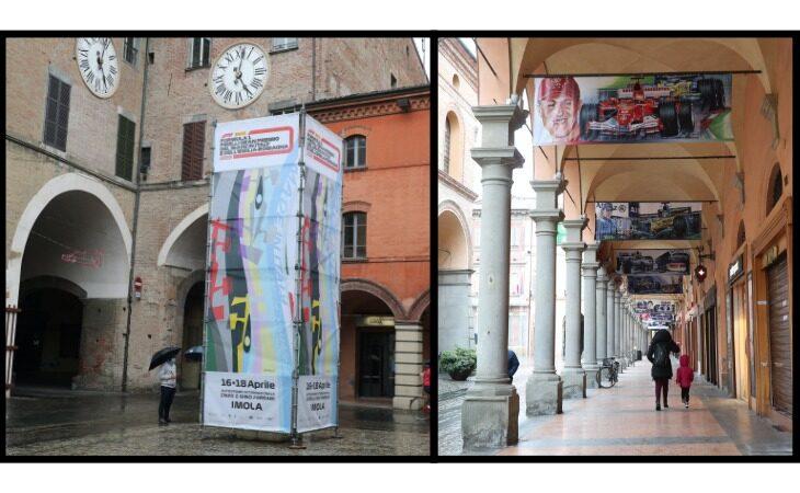 La città di Imola si veste di nuovi colori in attesa della F.1