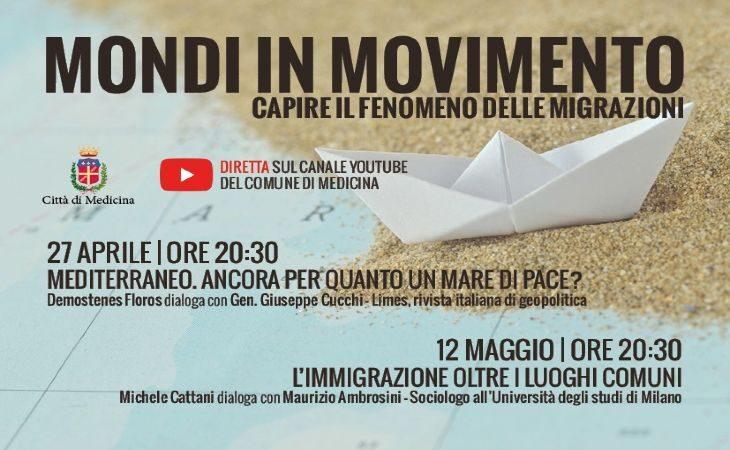 «Mondi in movimento», incontri on line per capire il fenomeno delle migrazioni, si comincia il 27 aprile con Demostenes Floros