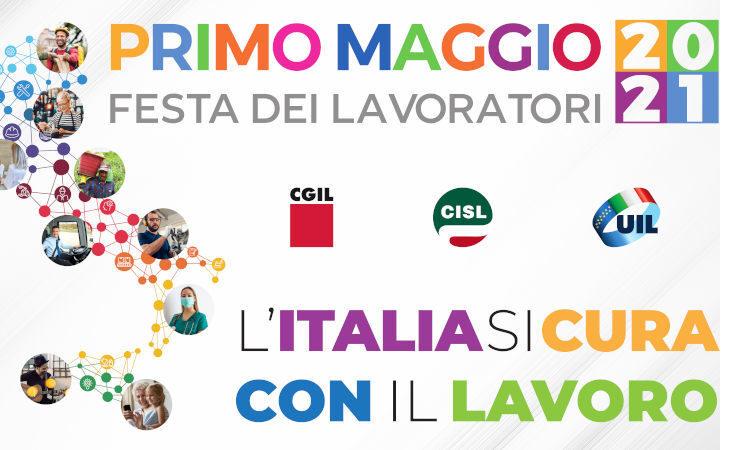 Primo Maggio, presidio simbolico dei sindacati in piazza Matteotti a Imola