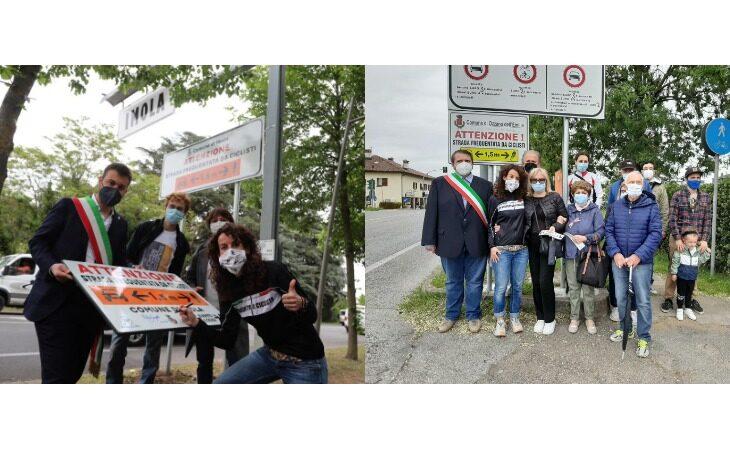 In attesa del Giro d'Italia i Comuni di Imola e Ozzano aderiscono alla campagna «salvaciclisti»