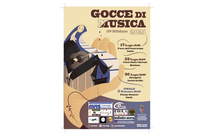 «Gocce di musica», l'immagine di Barbara Benetti scelta per il manifesto dell'edizione 2021