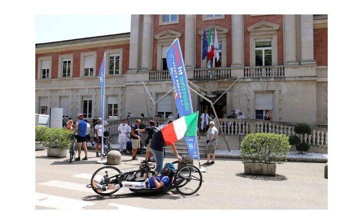 La staffetta di Obiettivo Tricolore ha fatto tappa a Montecatone