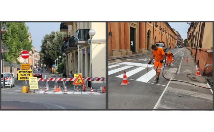 In corso i lavori per invertire il senso di marcia di via Cavour