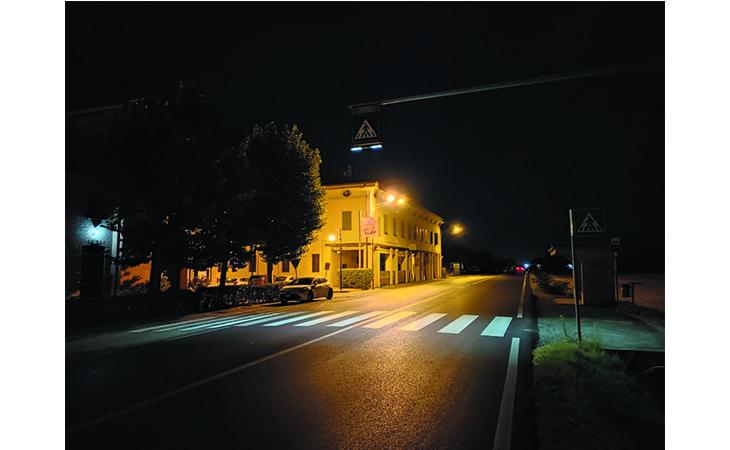 A Gallo illuminazione con luci a led per l'attraversamento pedonale sulla via Emilia