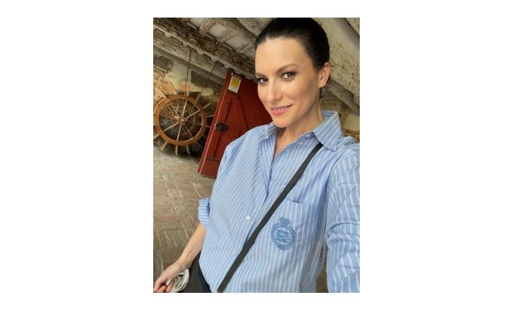 Laura Pausini in visita al Mulino Scodellino di Castel Bolognese