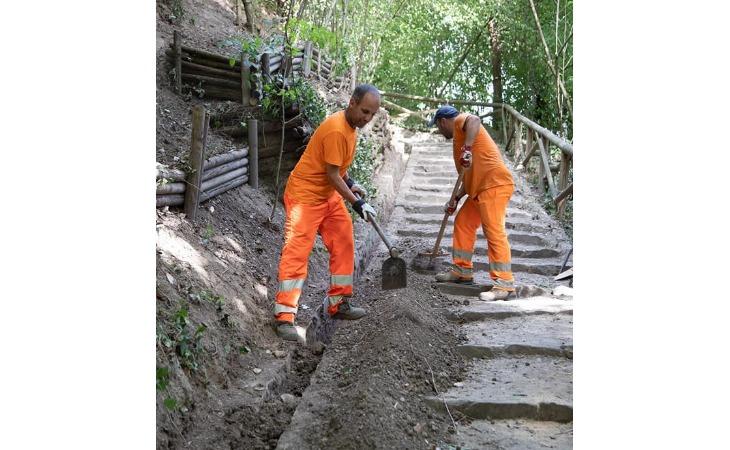 Iniziati gli interventi di riqualificazione al Parco delle Acque Minerali