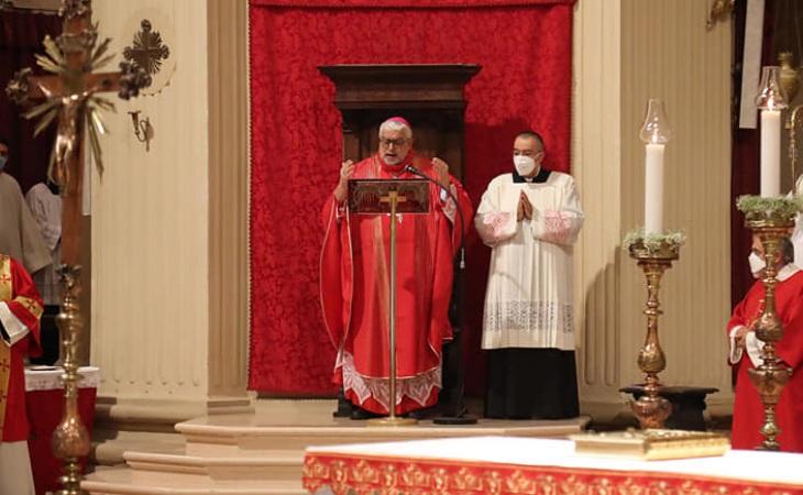 San Cassiano, l'omelia del vescovo monsignor Giovanni Mosciatti