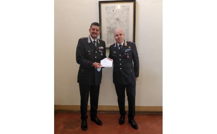 Il capitano della Compagnia carabinieri di Imola Andrea Oxilia promosso al grado di maggiore