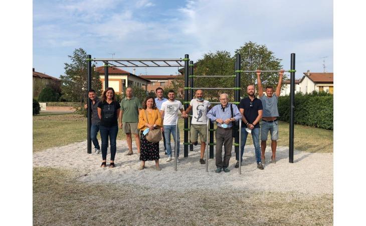 Nuova area fitness nella frazione di Villa Fontana
