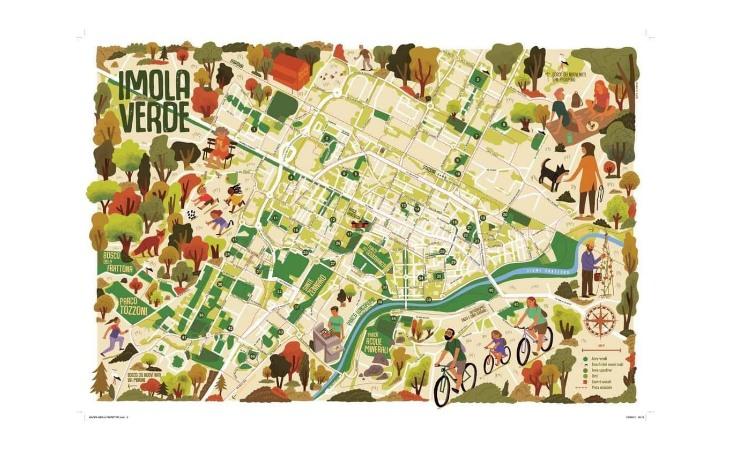 Svelata «Imola Verde», la mappa che racconta la ricchezza e la diversità degli spazi verdi della città