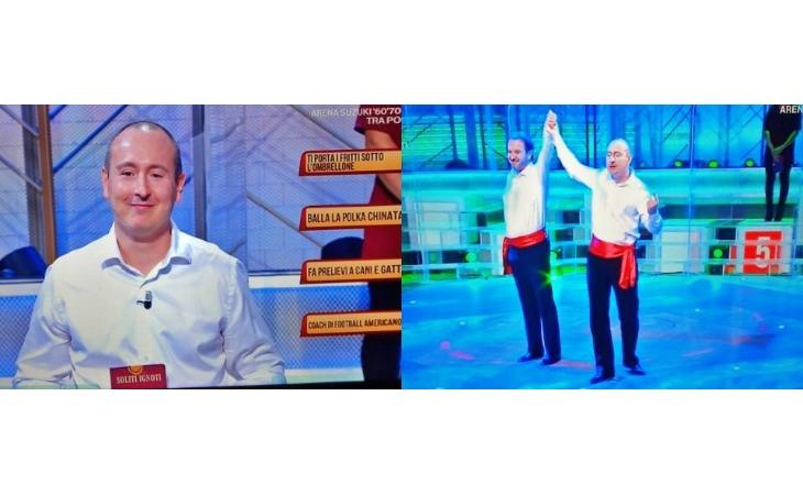 I ballerini di polka chinata Antonio Clemente e Loris Brini su Raiuno a «I soliti ignoti»