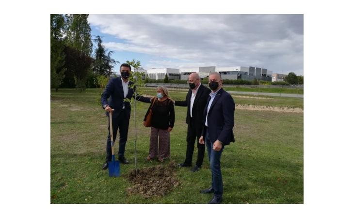 «Mettiamo radici per il futuro», all'outlet di Castel Guelfo cerimonia con il presidente Bonaccini per la messa a dimora di oltre 700 alberi e arbusti