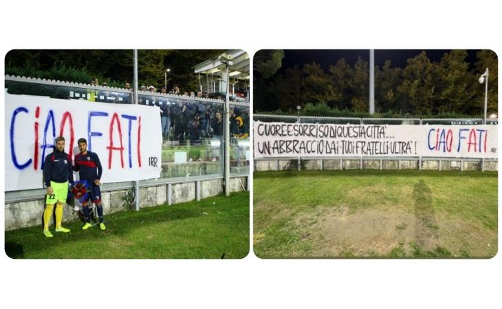 Emozioni al Romeo Galli, Imolese e ultras ricordano Andrea Cembali