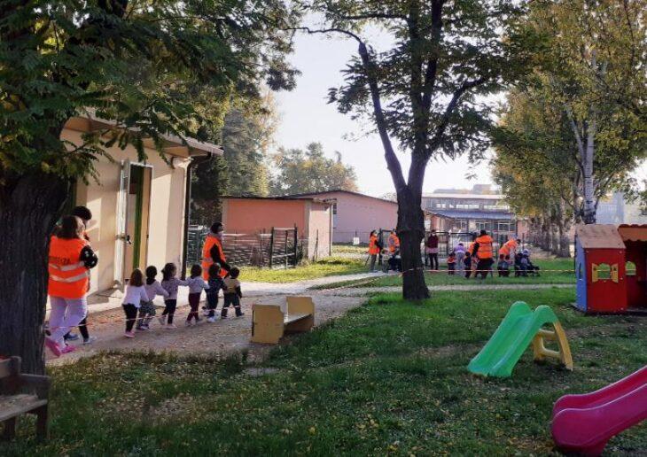 A Castel San Pietro esercitazione antisismica per 66 bambini dei nidi d'infanzia comunali